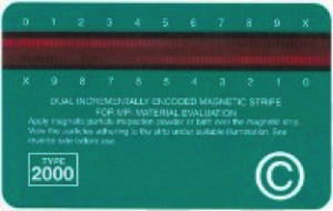 Magnetic stripe card ASTM E709-01